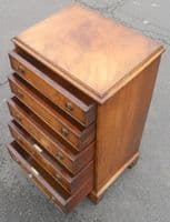 SOLD - Tall Narrow Mahogany Chest of Drawers by Bevan Funnell
